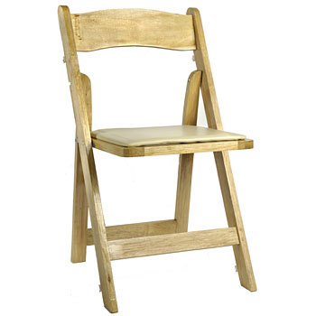 Natural Wood Folding Chair Rentals from Fabulous Events