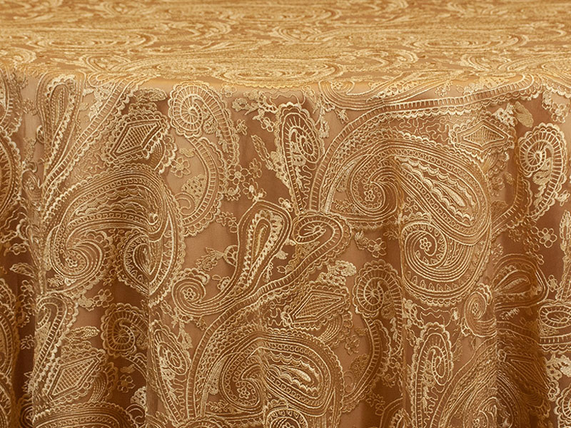 Rent Gold Paisley Lace Overlays For Special Events Weddings Fabulous