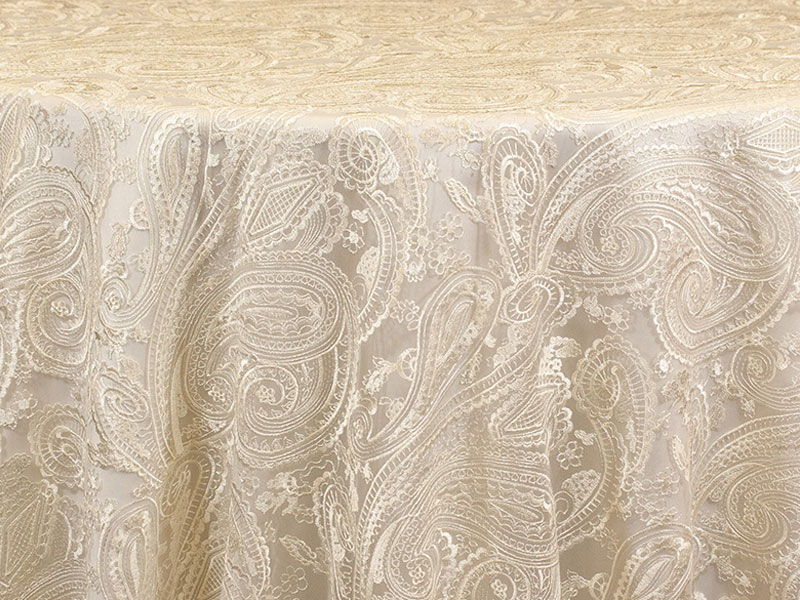 Ivory Lace Overlay For Rental Weddings Anniversaries Fabulous Events