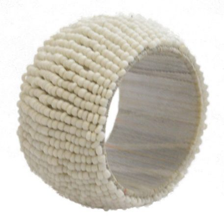 Rent White Beaded Napkin Rings from Fabulous Events. Nationwide Shipping.
