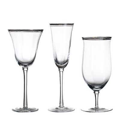 Rent Elegant Glassware for your wedding or special event from Fabulous Events
