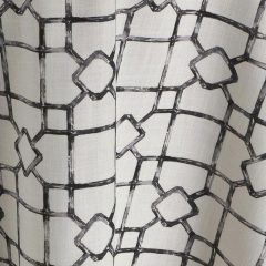Eleuthera Noir Black and White Table Linen Rental for Events