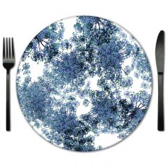 Glass Place Mat Rental from Fabulous Events. Ren for Weddings, Galas and Special Events
