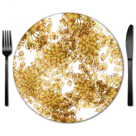 Rent our Glass Placemats for your special event. Exclusive designs from Lola Valentina Designs.
