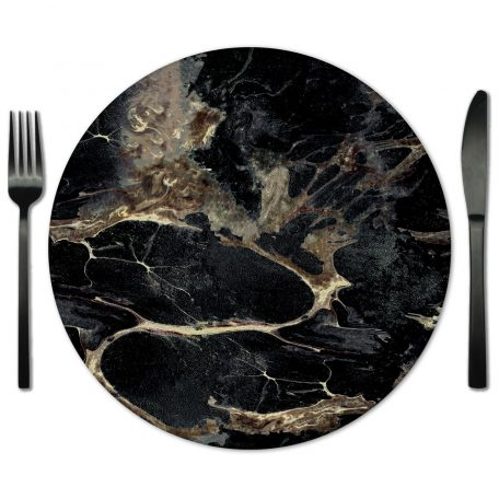 Glass Placemat rentals from Lola Valentina. Available exclusively from Fabulous Events.