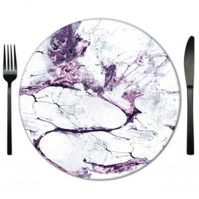 Glass Placemat rental for Weddings and Special Events from Fabulous Events.