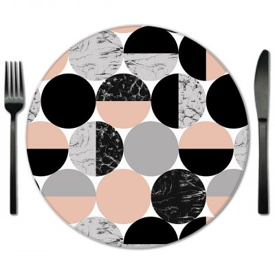 Rent Glass Placemats from Fabulous Events. Exclusive rentals from Lola Valentina.