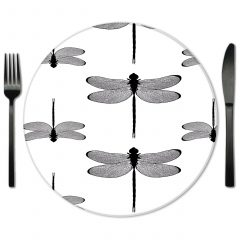 Glass Placemat Rental from Fabulous Events. Rent exclusive designer placemats from Lola Valentina.