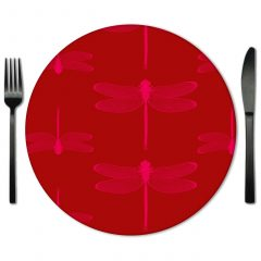 Hor Pink and Red glass Placemat for Rent from Fabulous Events