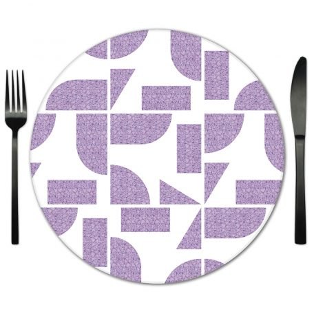 Geometric Glass Placemat Rental for Special Events