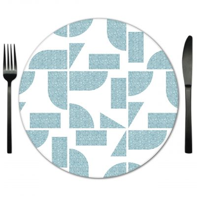 Geo Glass Placemat Rental. Rent for Weddings, Galas and Special Events.