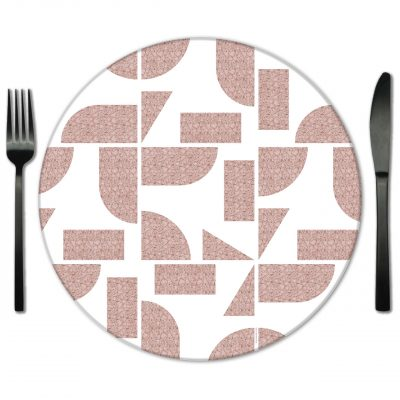 Pink Glass Placemat Rentals from Fabulous Events.