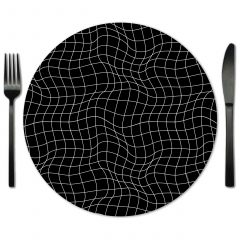 Rent Black Glass Placemats from Fabulous Events.