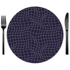 Navy Glass Placemat Rentals from Fabulous Events.