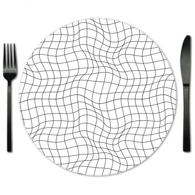 Rent Geometric Glass placemats from Fabulous Events.