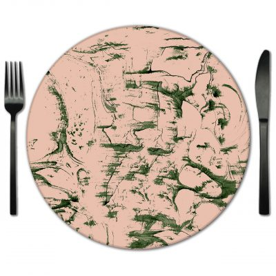 Glass Placemat Rental from Fabulous Events. Rent for Special events and Galas.