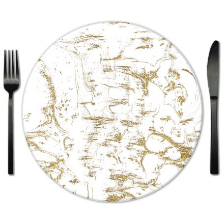 Marble Glass Placemat for Rental from Fabulous Events.