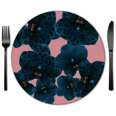 Rent Floral Placemats made from Glass for your special event.