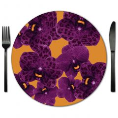 Rent Floral print glass placemats for Special Events.