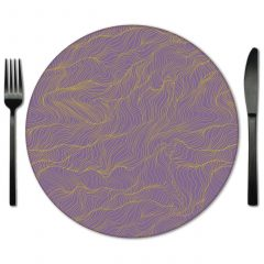 Lilac Glass Placemat Rentals from Fabulous Events.