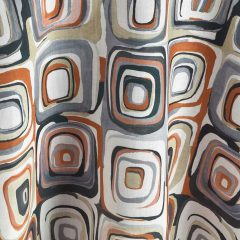 Russet Concentric Apricot Orange Table Linen for Events