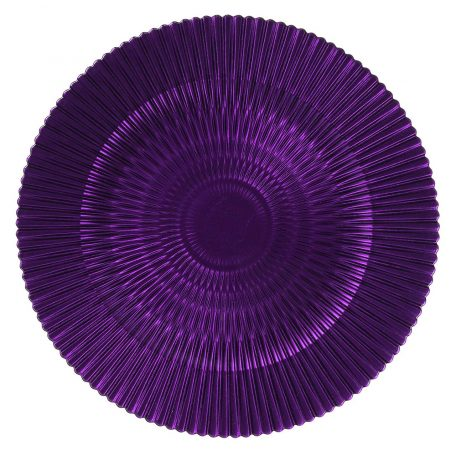 Deep Purple Marbella Glass Charger for rental