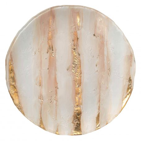 Goldstone Blush Glass Charger Rental