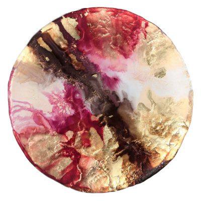 Scoria Garnet Glass Charger Rental