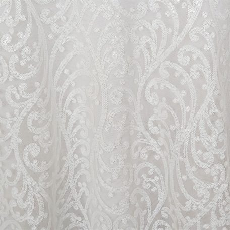 White Andora Sequins Overlay for Weddings and Showers