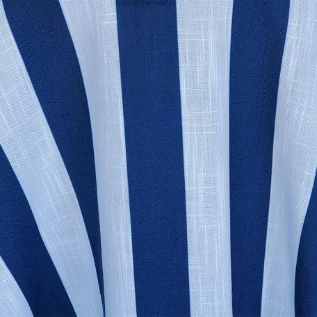 Navy/White Nautical Stripe Belize table linen rentals.