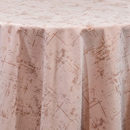 Blush Pink Etched velvet table linen and table runner rentals. Nationwide rental for all events.
