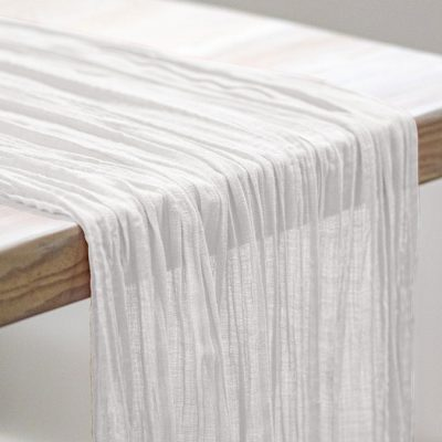 White Sahara Table Drape